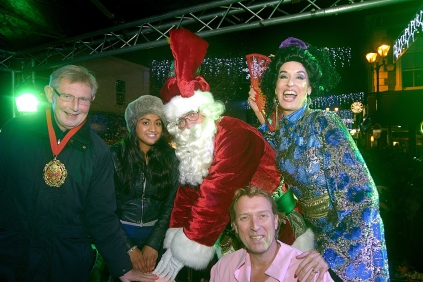 Switching on the Christmas Lights in Aldershot 2011