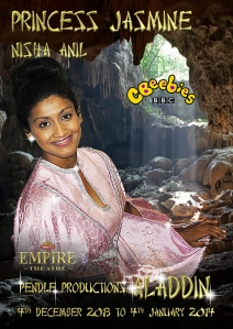 Promo Photo - playing Princess Jasmine in Aladdin 2013/2014 - http://www.thwaitesempiretheatre.co.uk