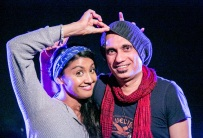 Mucking about with Amrit at an open mic music night 2012 - www.amritsond.com